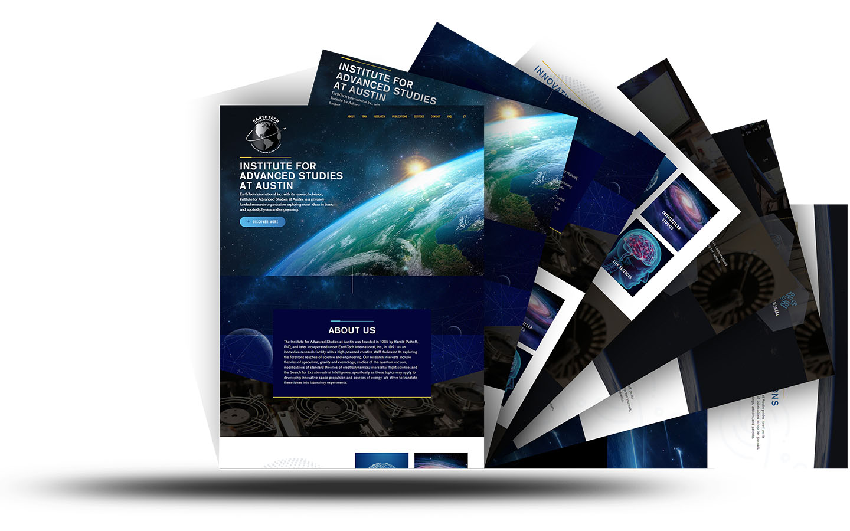 Earth Tech Site Mockup